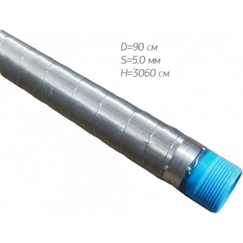 Фильтр для воды сетчатый (нерж.) 90*5,0*3060